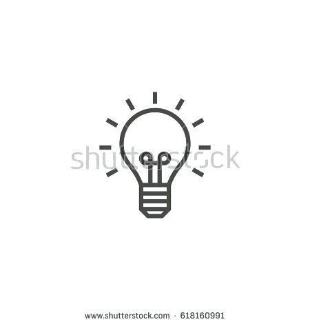 450x470 Light Bulb Outline Light Bulb Idea Lamp Outline Icon Vector