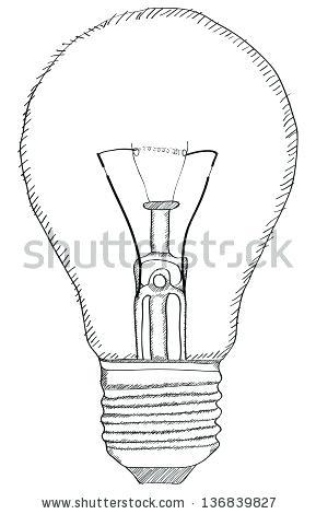 289x470 Light Bulb Outline Light Bulb Vector Outline Sketched Up Vector
