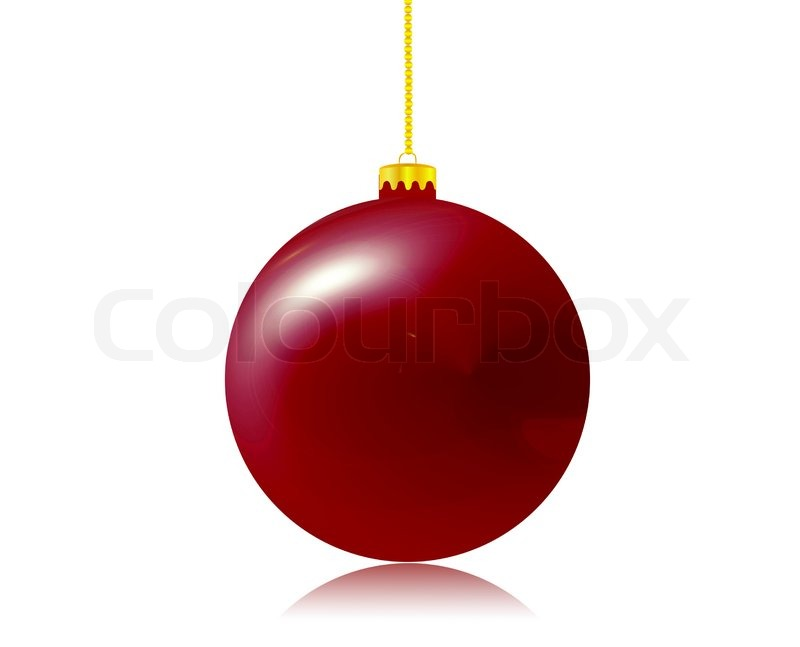 800x647 Red Christmas Ball, Xmas, Hanging, Link Stock Vector Colourbox