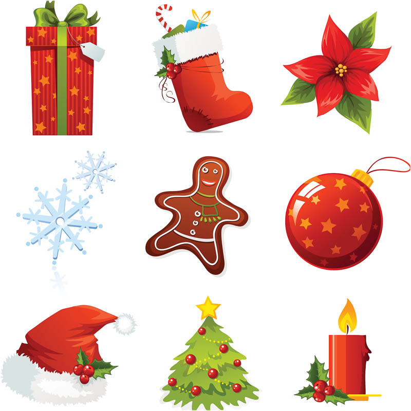 800x800 Christmas Elements For Design Vector Vector Graphics Blog