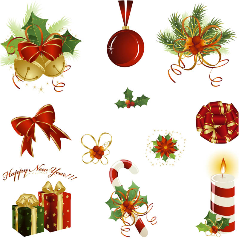 800x800 Elements For Christmas Design Vector Vector Graphics Blog