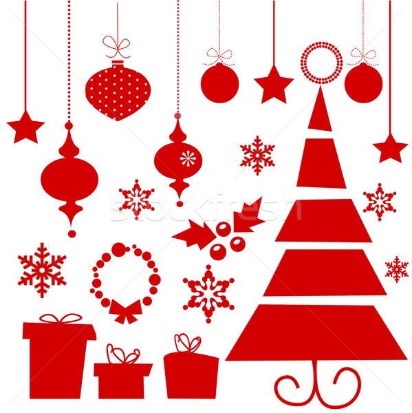 599x600 Elements For Christmas Design Vector Illustration Karola Kallai