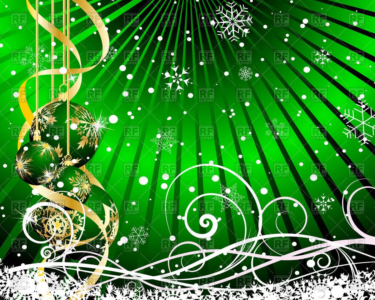 1200x960 Beautiful Green Christmas Card Design Vector Image Vector