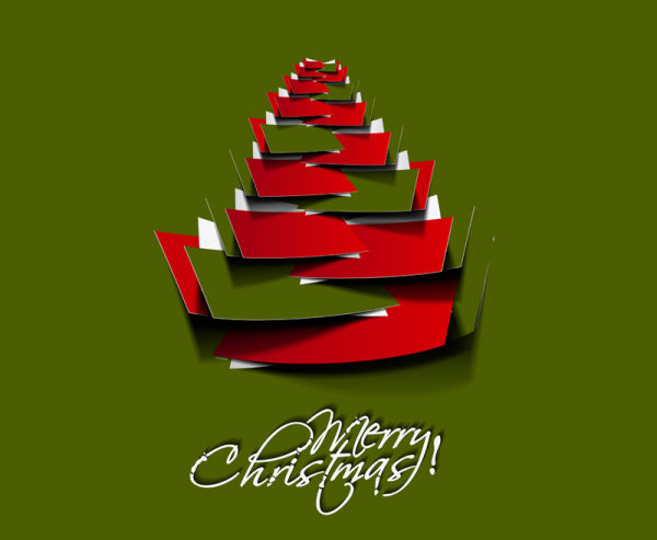 600x493 Paper Cut Christmas Tree Design Vector 19 Free Download