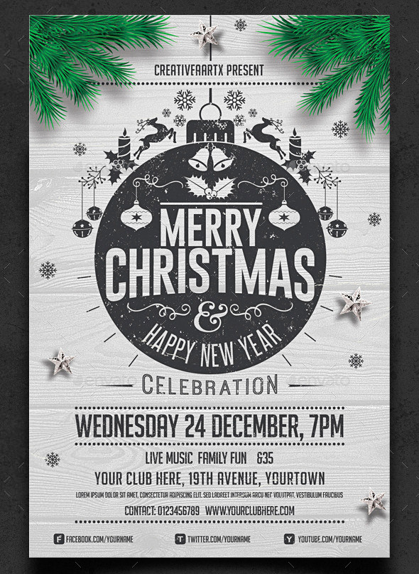christmas flyer vector at getdrawings com free for personal use