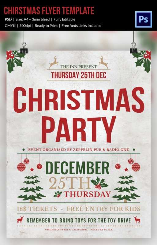 513x800 Free Christmas Party Flyer Templates Awesome 30 Christmas Flyer