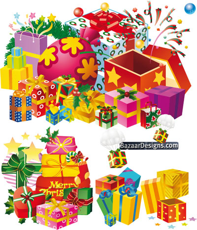 400x465 Christmas Gift Vector Pack Colorful Style Download Free Vector