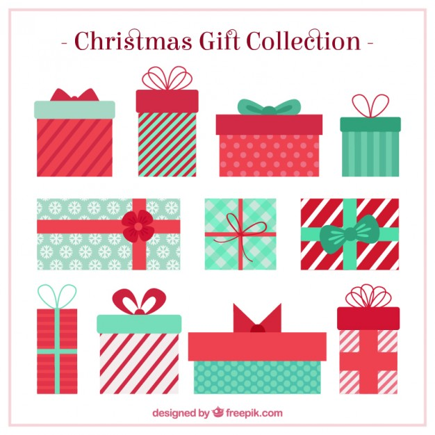 626x626 Christmas Gifts Collection Vector Free Download