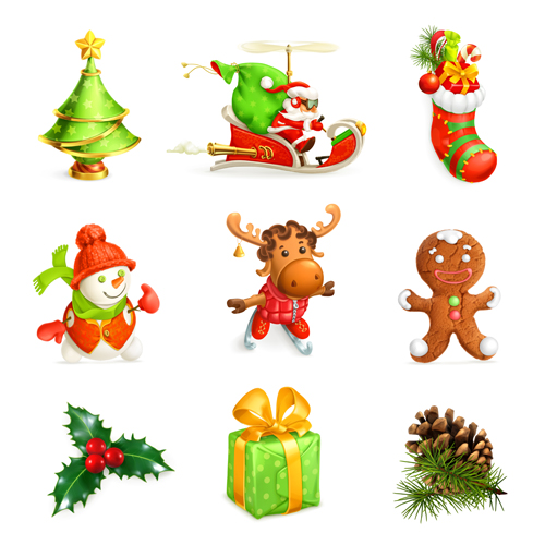 500x500 2015 Christmas Gift Ornament Illustration Vector Free Download