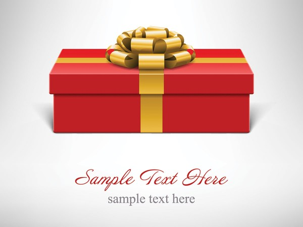 600x450 Gift Box Ribbon Vector