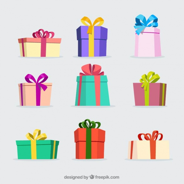 626x626 Several Colored Christmas Gifts Vector Free Download