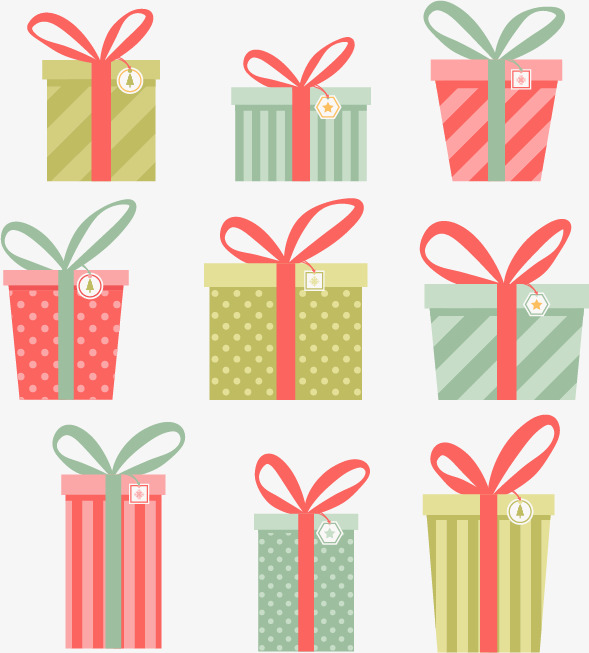 589x653 Vector Christmas Gift Box, Christmas Vector, Gift Vector, Box