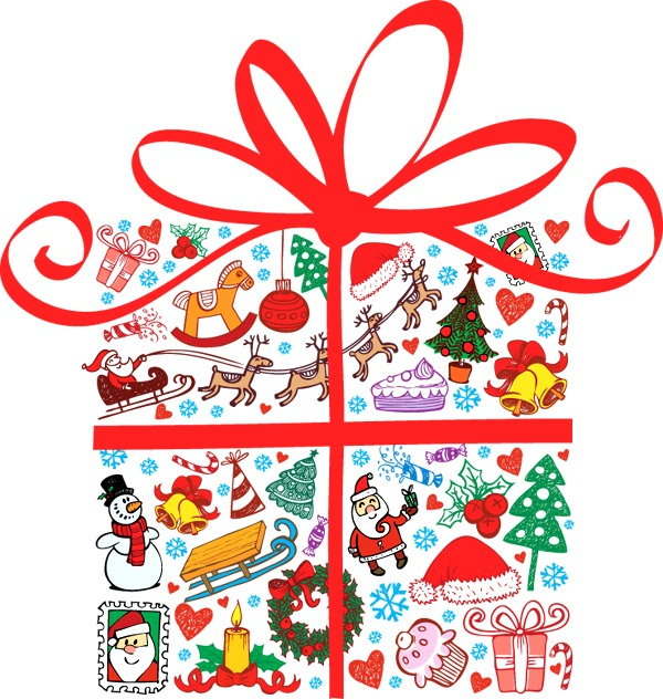 600x632 Cartoon Christmas Gift Vector Graphics My Free Photoshop World
