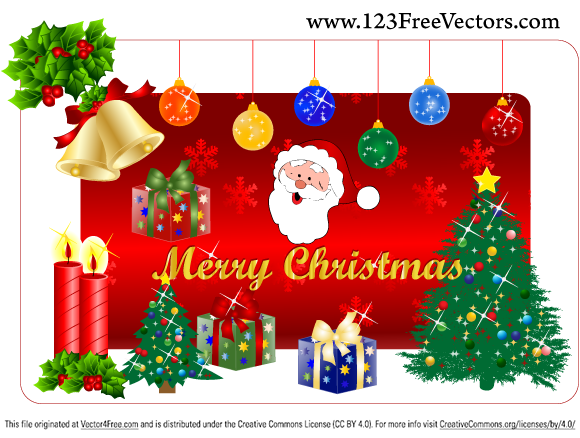 580x438 Christmas Gift Free Vector Pack