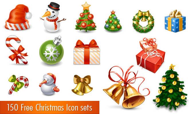 Christmas Icons Free Vector