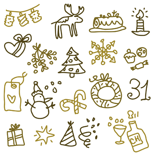 500x500 Cute Xmas Icons Mix Vector Graphics 04 Free Download