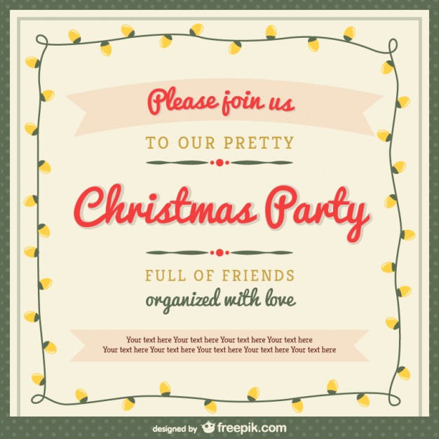 christmas invitation vector at getdrawings com free for personal