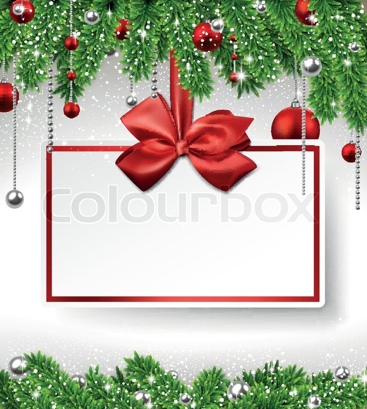 718x800 Christmas Background With Invitation Card Stock Vector Colourbox