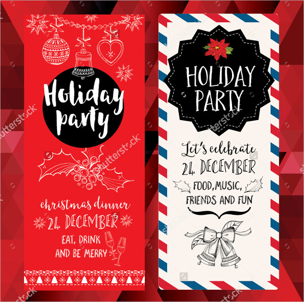 600x596 Holiday Party Invitations