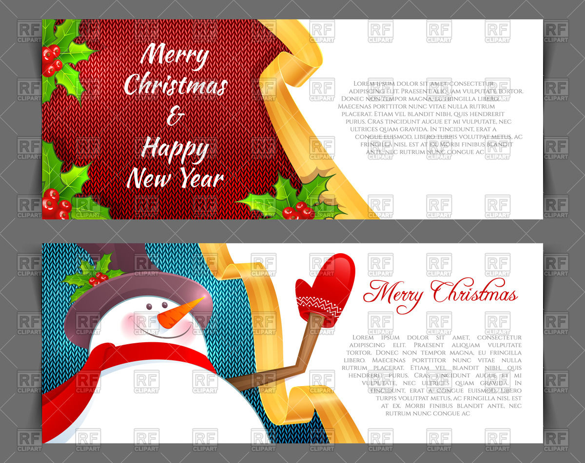 1200x951 Cute Xmas Invitation Template With Snowman Vector Image Vector