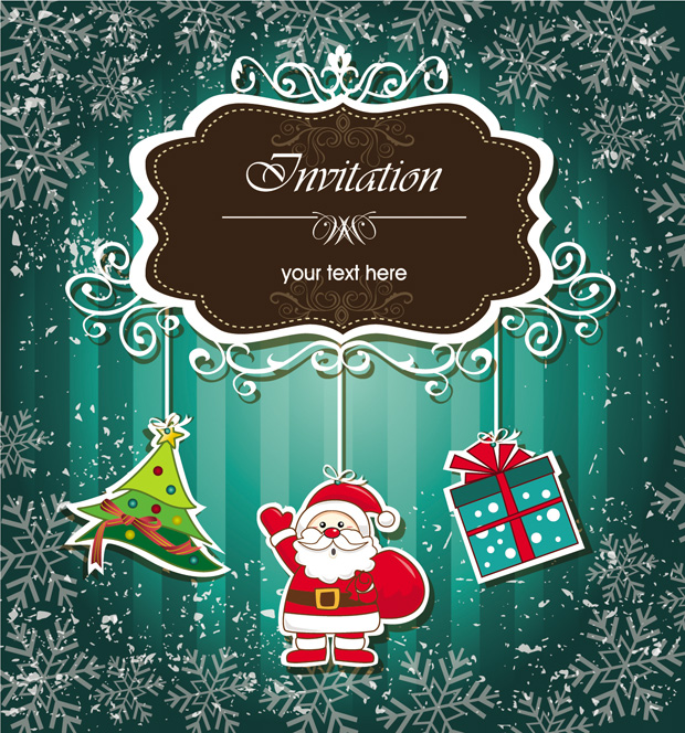 620x664 Free Download Of Christmas Invitations Vector Design Vector