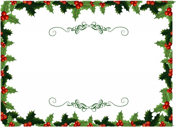 600x433 Holly Christmas Invite Free Vector In Adobe Illustrator Ai ( .ai