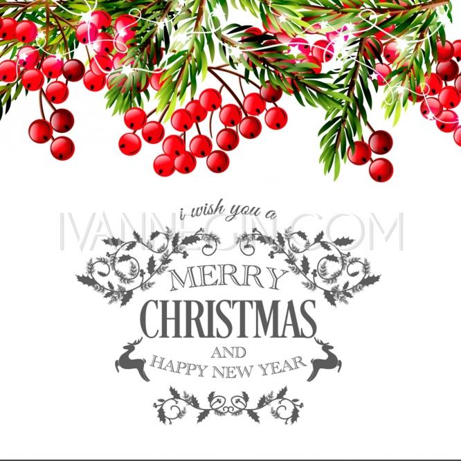666x666 Merry Christmas And Happy New Year Invitation Template Gift Box