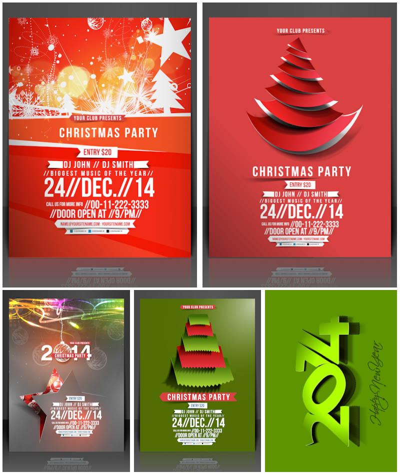 800x950 2014 Christmas Party Invitations Vector Vector Graphics Blog