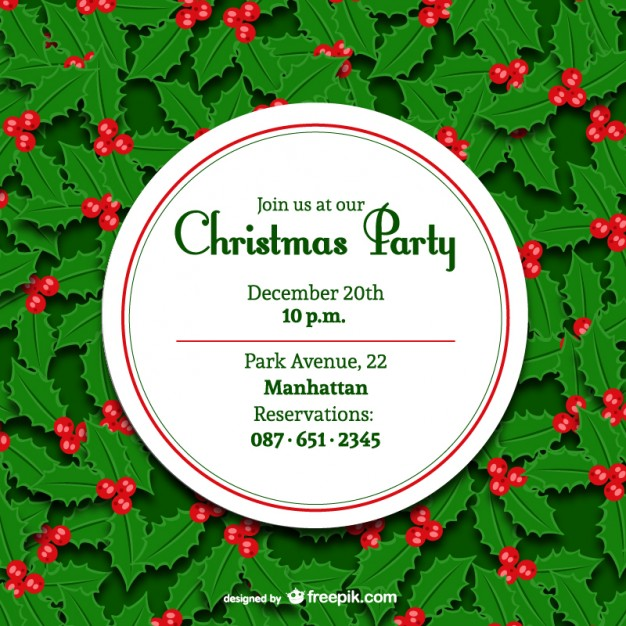 626x626 Minimal Christmas Party Invitation Vector Free Download
