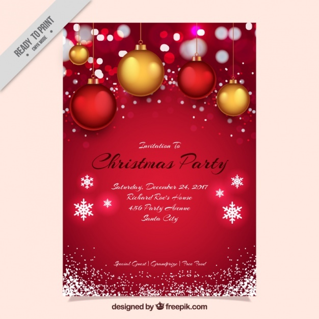 626x626 Christmas Invitation Vectors, Photos And Psd Files Free Download