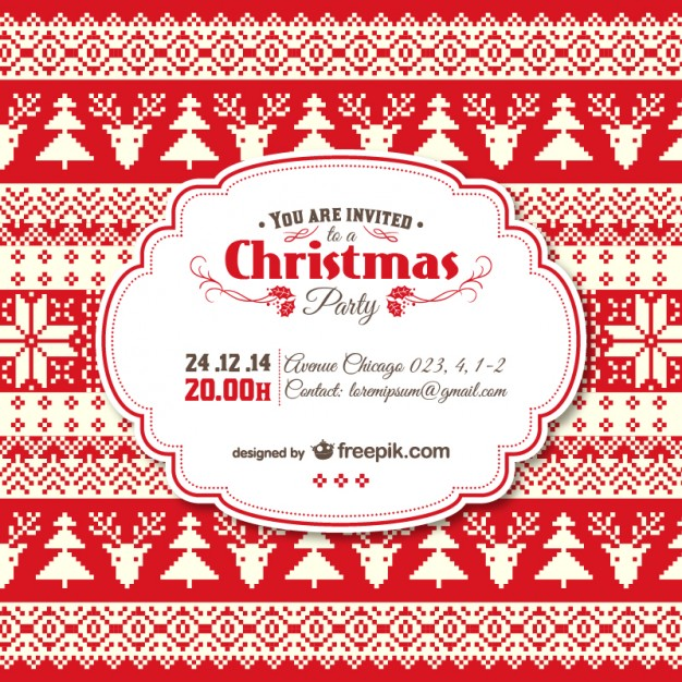 626x626 Christmas Invite Templates