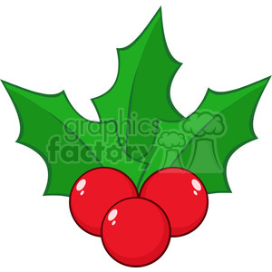 300x300 Royalty Free Royalty Free Rf Clipart Illustration Christmas Holly