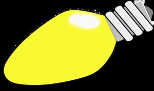 Christmas Light Bulb Vector