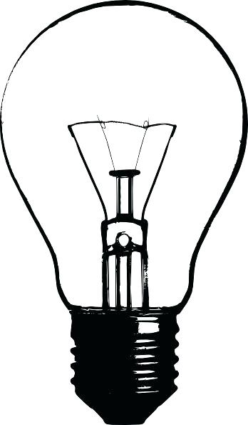 348x595 Light Bulb Outline Isolated Outline Light Bulb Outline Vector