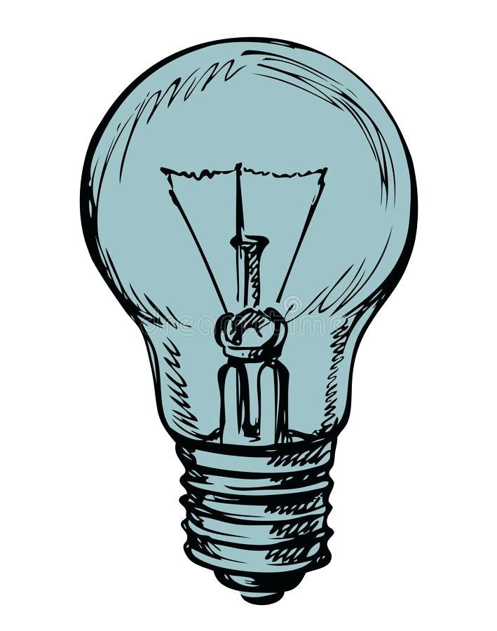 709x900 Light Bulb Outline Light Bulb Vector Outline Sketched Up Vector