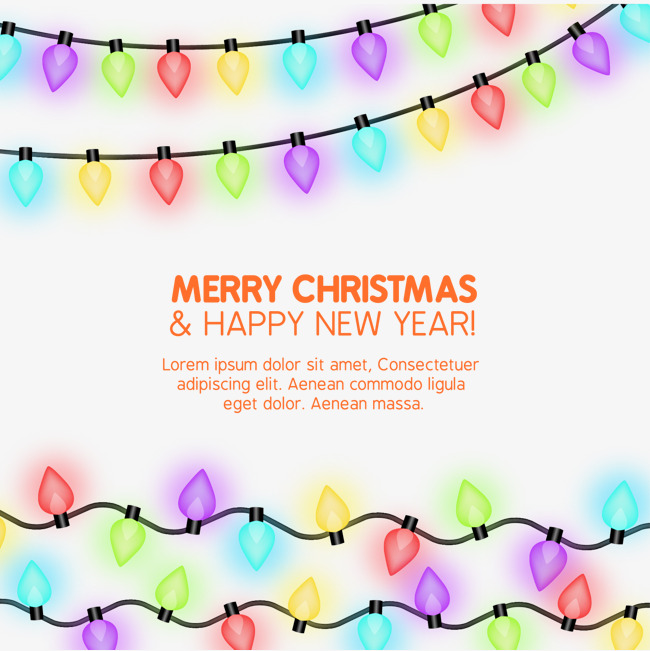 650x651 Bright Christmas Lights Vector Material, Bright Christmas Lights