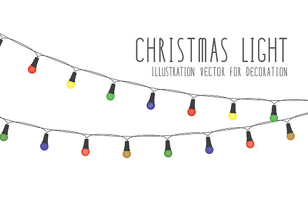 612x433 Collection Of Christmas Lights Clipart Vector High Quality