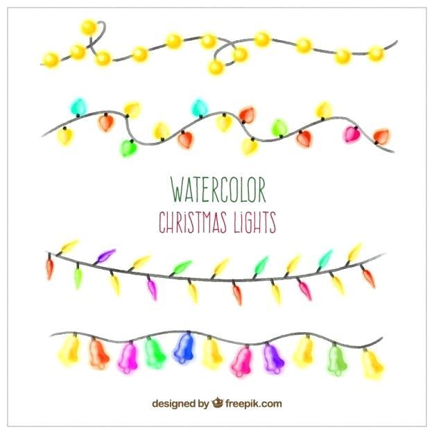 626x626 Christmas Lights Vector Hand Painted Free White Mattlatham