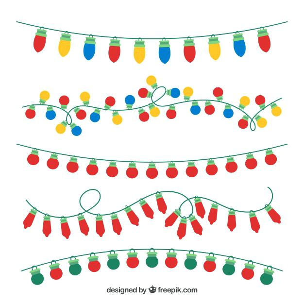 626x626 Christmas Lights Vector Isolated Realistic Glowing Psd Mattlatham