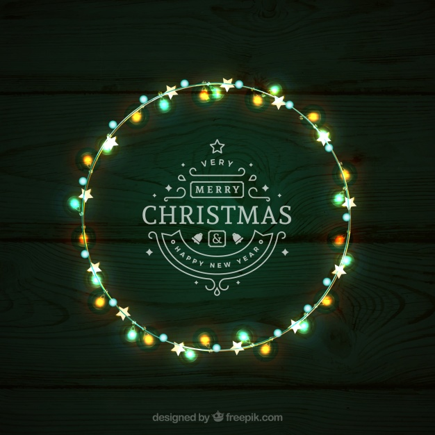 626x626 Green Christmas Lights Vector Graphic Vector Free Download