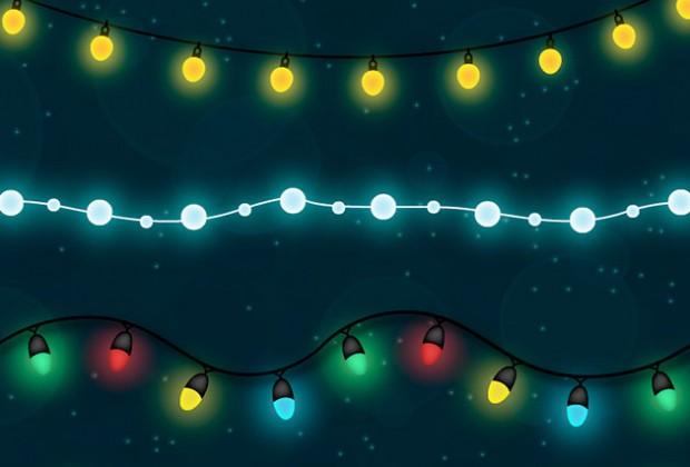 620x420 Shiny Christmas Light Free Vector Set Creative Nerds