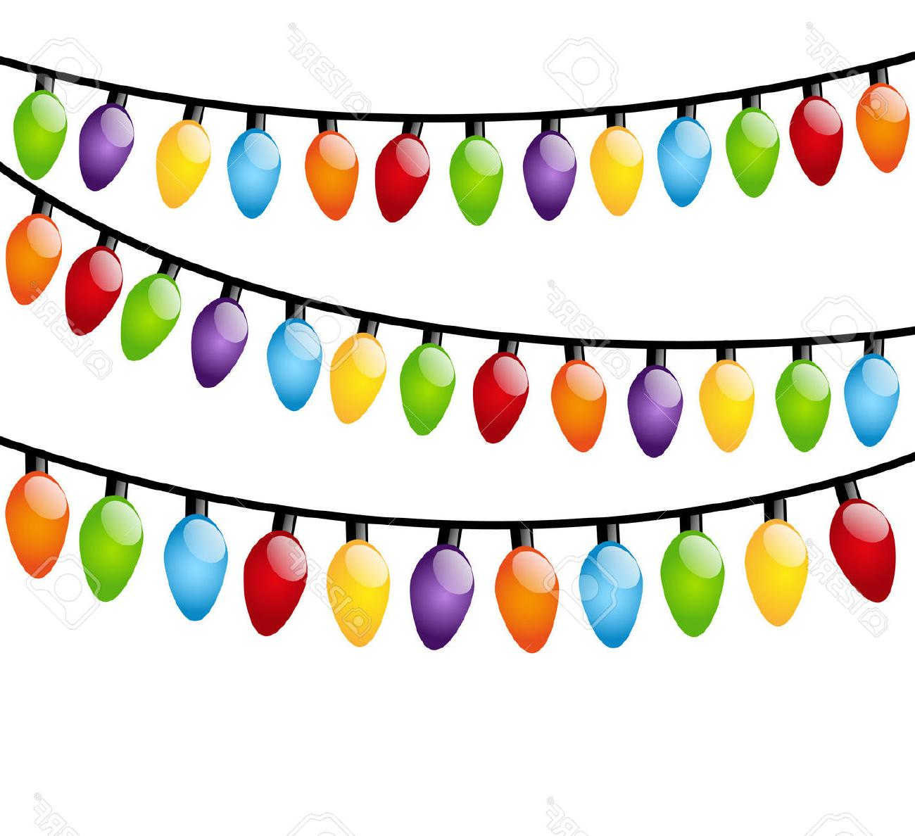 1300x1188 Best Free Christmas Lights Vector Border Bright Cliparts Drawing