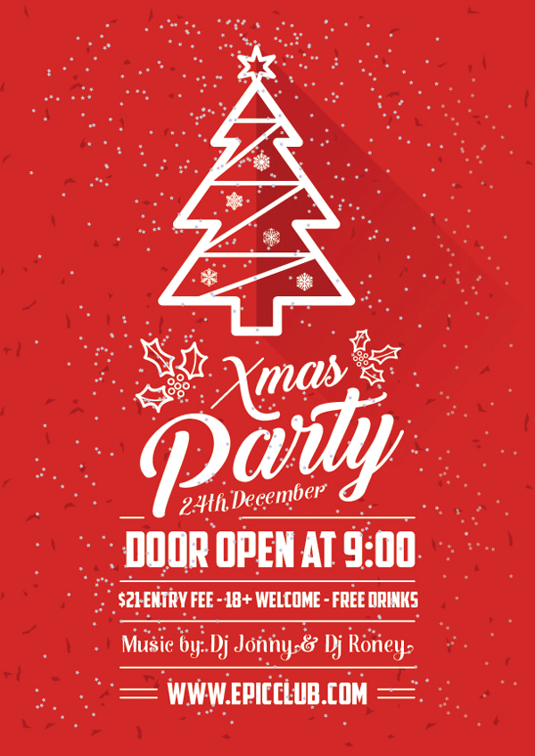 600x848 Free A4 Christmas Party Flyer Design Template Amp Mock Up Psd