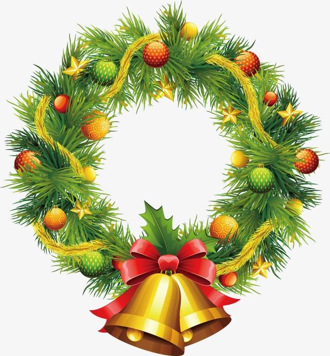 650x700 Christmas Wreath Vector, Christmas Vector, Wreath Vector