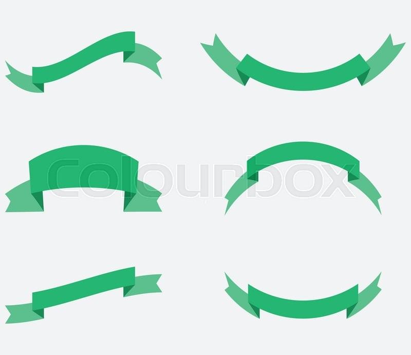 800x691 Ribbon Decoration Green Color. Ribbon Banner, Banner And Ribbon