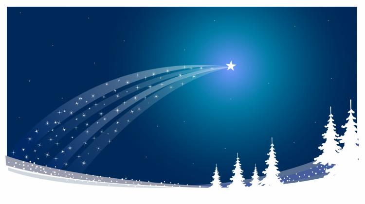 750x420 Christmas Star Free Vector 4vector