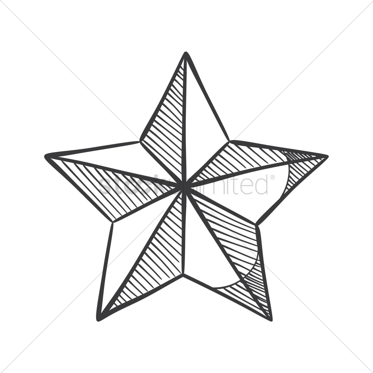 1300x1300 Christmas Star Vector Image