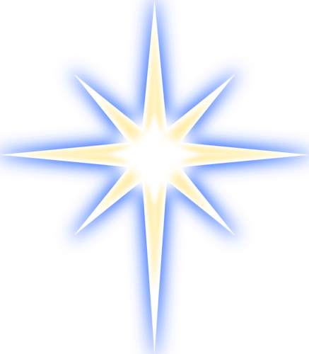 437x500 Christmas Star Vector Image Public Domain Vectors