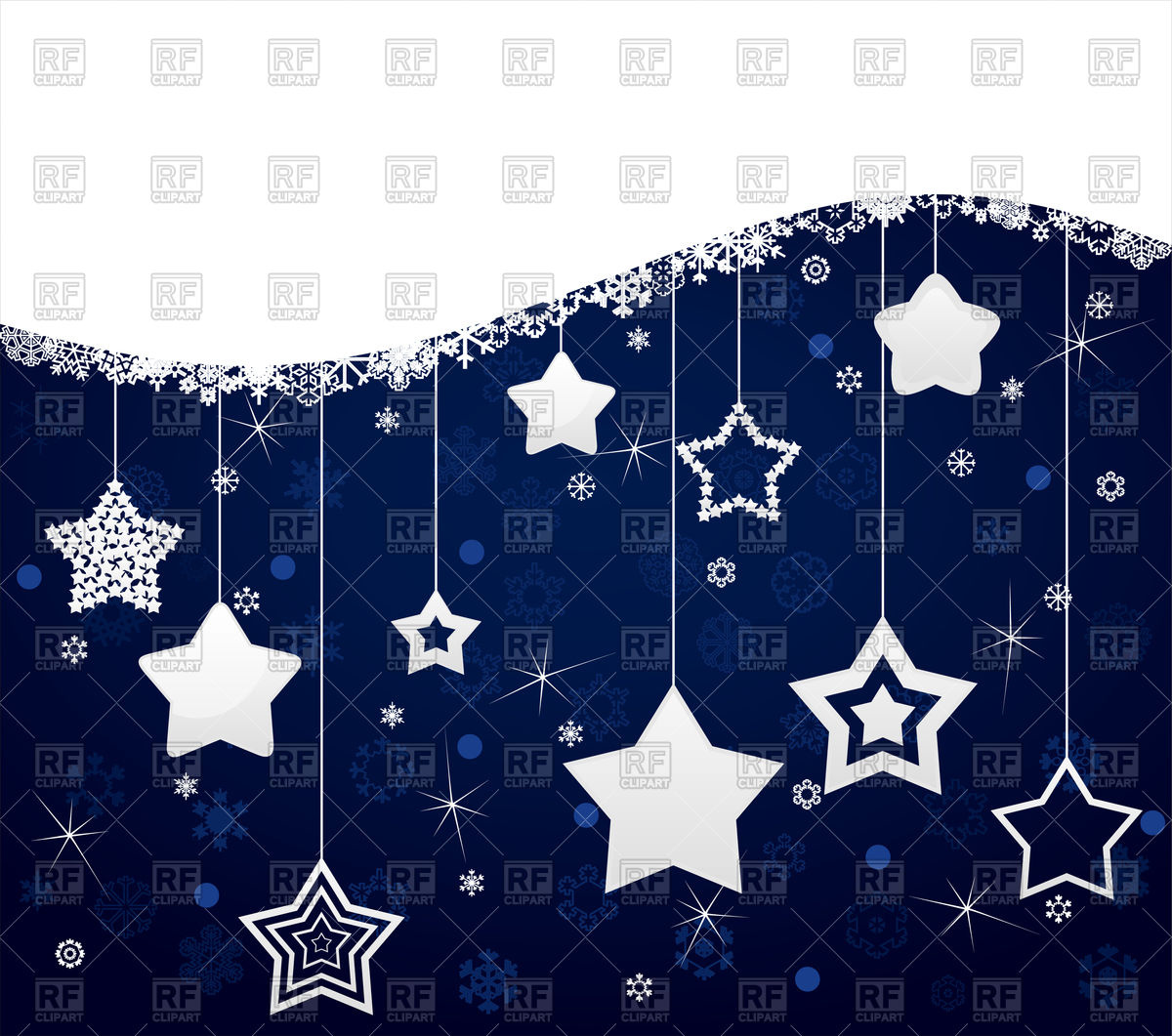 1200x1061 Dark Blue Christmas Background From White Stars Vector Image