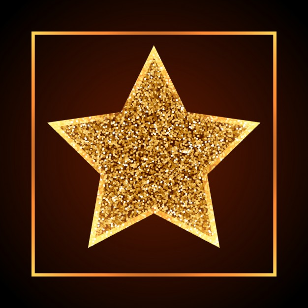 626x626 Golden Christmas Star Vector Free Download